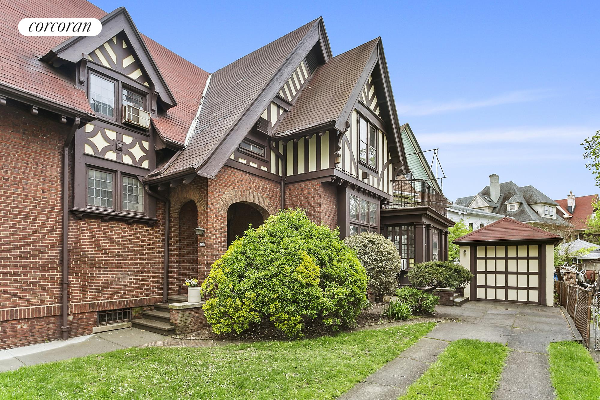 1712 Ditmas Avenue, Historic District Tudor with detached garage