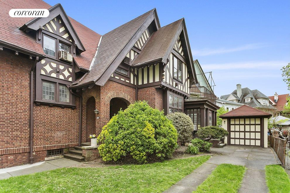 Landmarked details, private driveway and garage