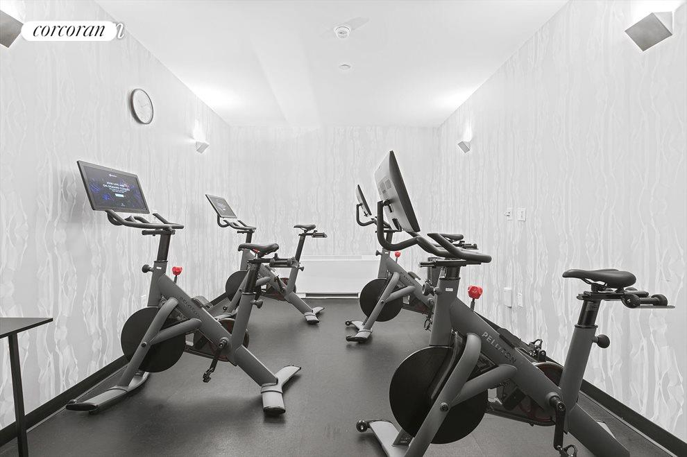 Peloton bike machine room