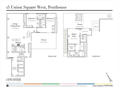 New York City Real Estate | View 15 UNION SQUARE WEST, #Penthouse | Floorplan