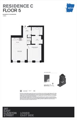 New York City Real Estate | View 287 EAST HOUSTON ST, #5C | Floorplan