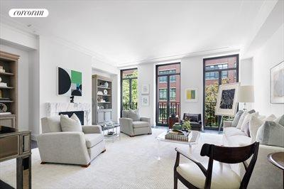 New York City Real Estate | View 141 West 11th Street | Formal living room with gas burning fireplace