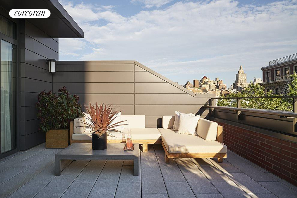 Private south-facing rooftop terrace
