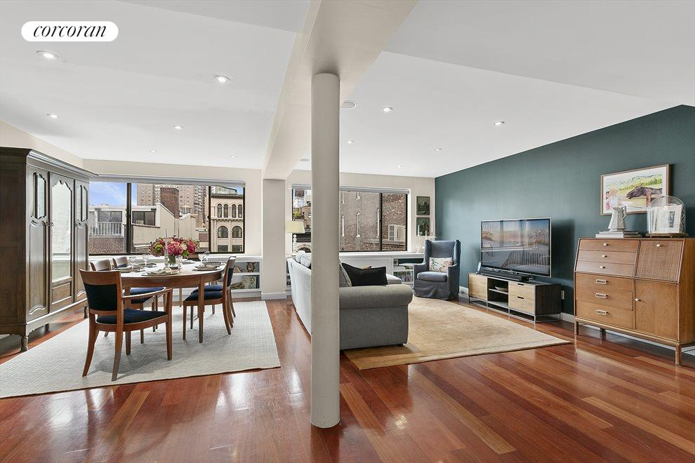 New York City Real Estate | View 44 East 12th Street, #PHC | Spacious South Facing Living Room