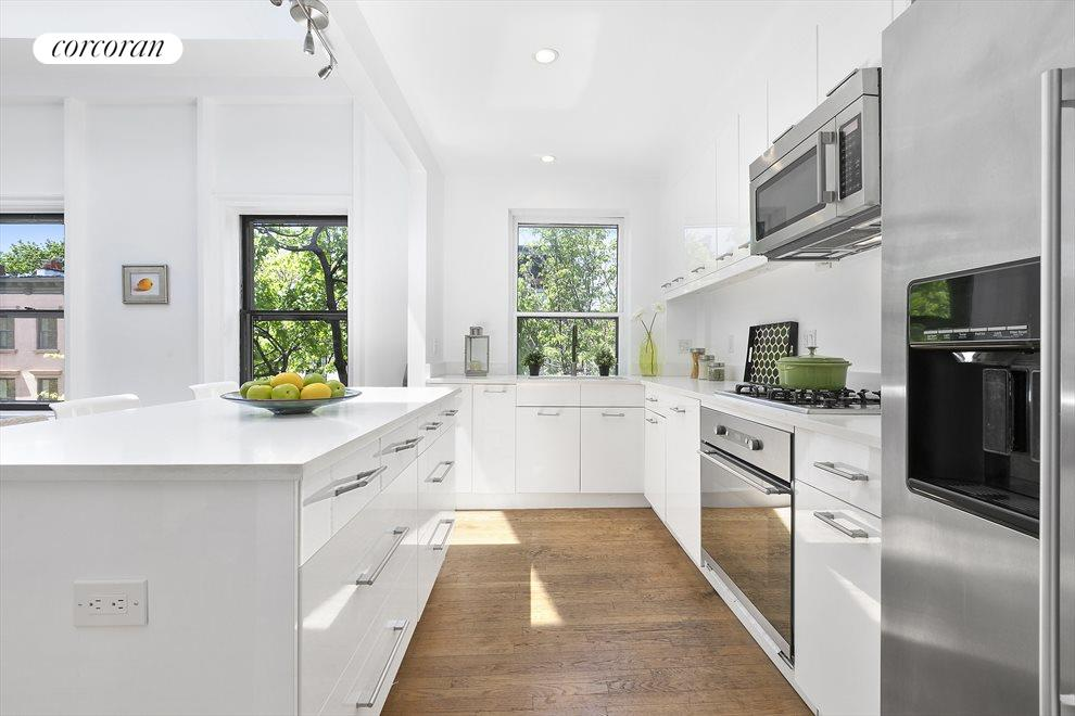 Kitchen with large center island for casual dining