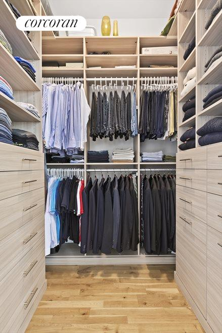 Beautiful walk in closet in the master bedroom