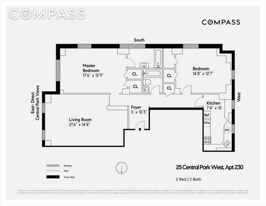 New York City Real Estate | View Central Park West | Floorplan 2