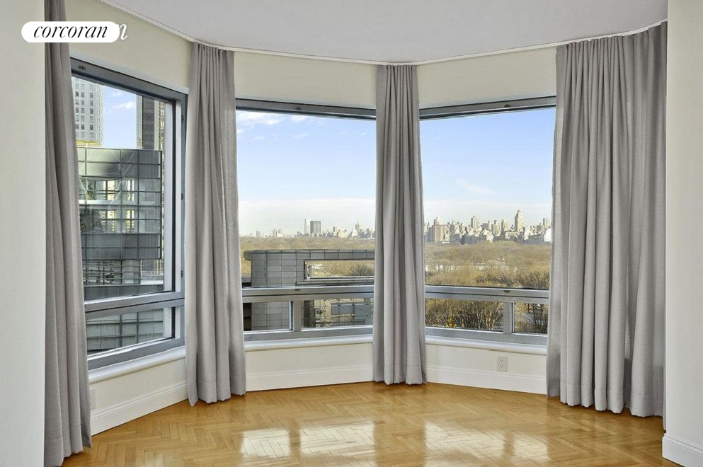 Enjoy the spectacular views of Columbus Circle and Central Park all day long!  This gorgeous corner one bedroom rental is perched on the 14th floor and part of the coveted Central Park Place condominiums. The residence features an open kitchen facing the park views. It is fitted with stainless steel appliances (Verona stove, Sub-Zero refrigerator, and Bosch dishwasher) and Caesar stone dining counter-top. There are north and west floor-to-ceiling windows with elegant custom window treatments. It has a spacious living & dining area, a porcelain tiled bathroom, loads of closet space-  plus a washer-dryer closet!.In the highly regarded condominium at 301 West 57th Street at the corner of 8th Avenue, the building offers 24-hour doorman, a swimming pool, health club, two resident lounges, and an outdoor terrace. Right outside your door is Central Park, Columbus Circle,  Time Warner Center, and Lincoln Center. Conveniently situated near many subway lines. .This rental is available for July 1st move-in date for a minimum of 1-year lease or more. Condominium building fees apply to the applicant. Sorry, no pets.***OWNER OFFERING INCENTIVE*** contact us to inquire.