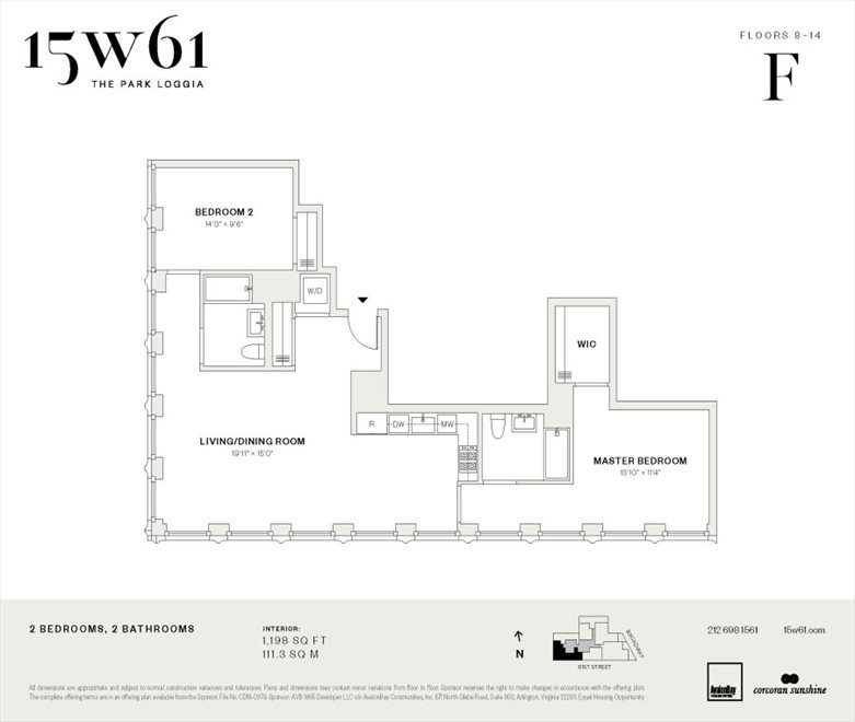New York City Real Estate | View 15 West 61st Street, #10F | Floorplan