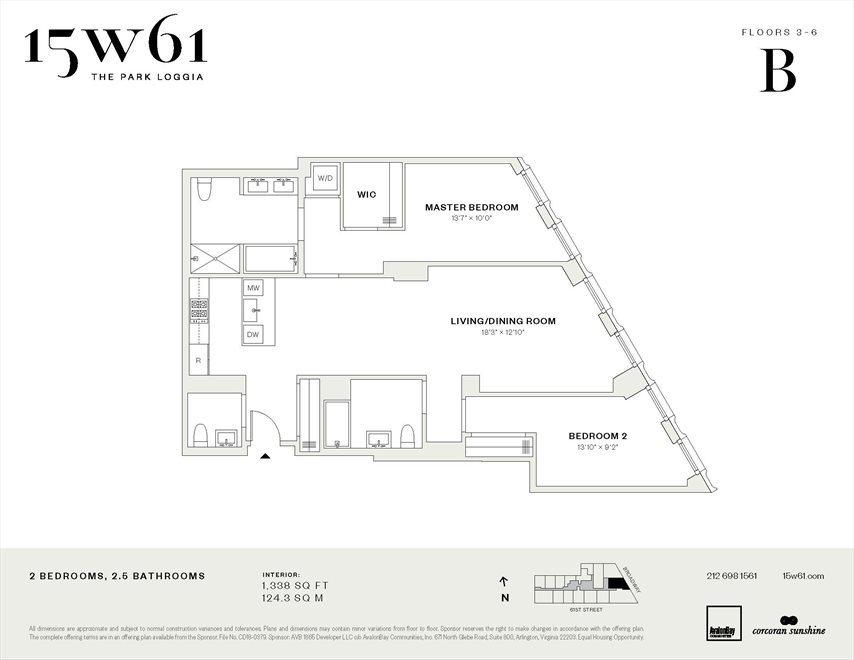 New York City Real Estate | View 15 West 61st Street, #5B | Floorplan