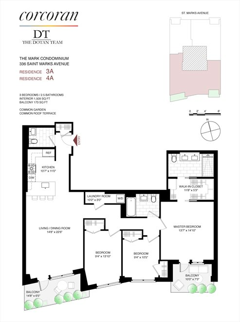 New York City Real Estate | View 336 St Marks Avenue, #4A | Floorplan