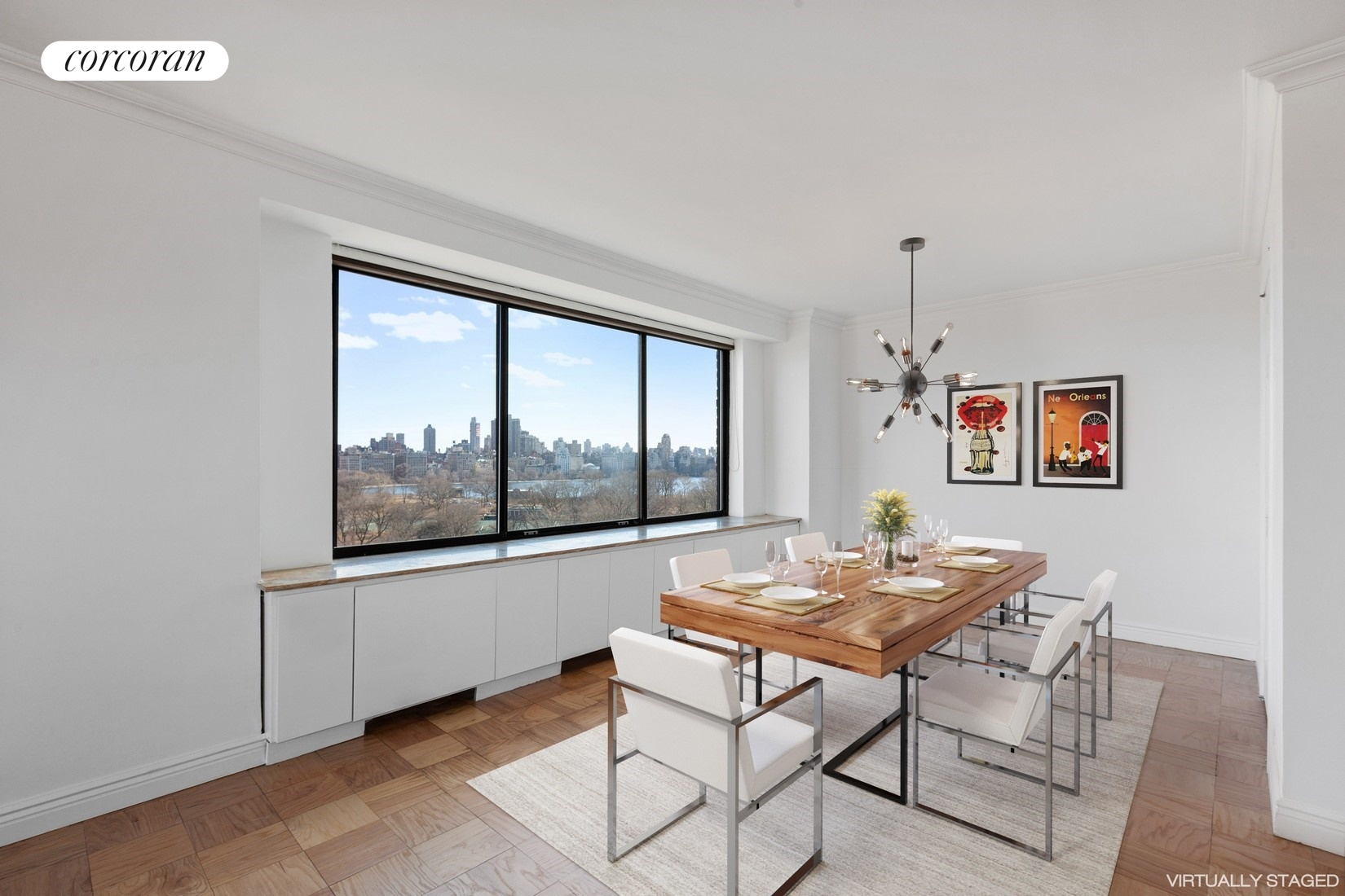 372 Central Park West 15c Dining Room With Ustructed Views