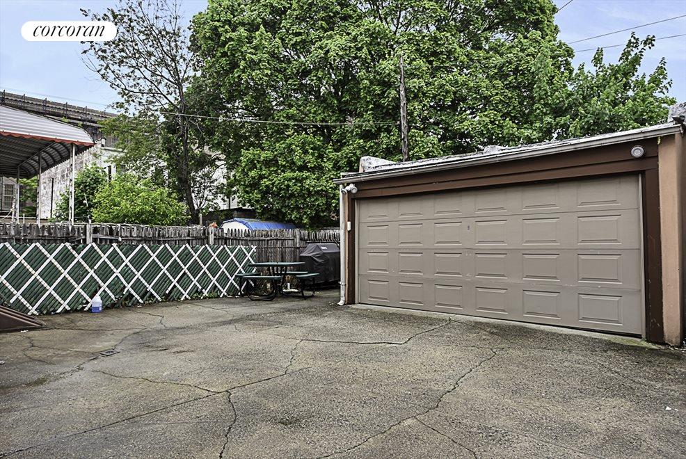 Yard  w two car garage and Private driveway