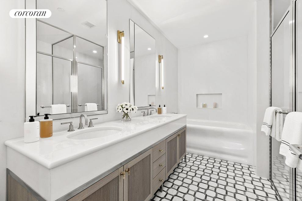 13 ft master bath with bianco bella marble