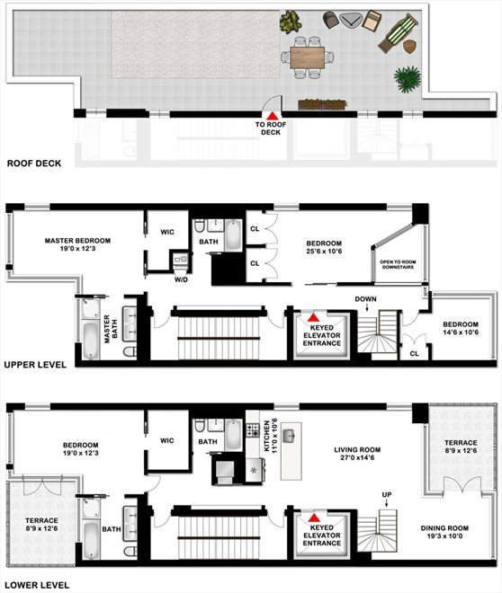 New York City Real Estate | View 425 East 13th Street, #PHF | Floorplan