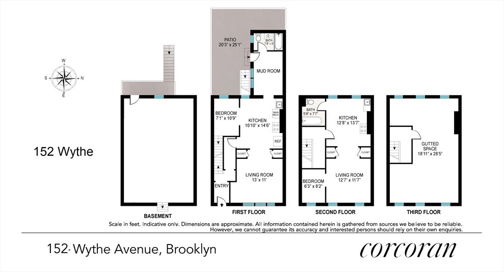 New York City Real Estate | View 152 Wythe Avenue | Floorplan