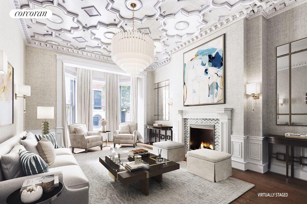 Alternative Living Room, Virtually Staged