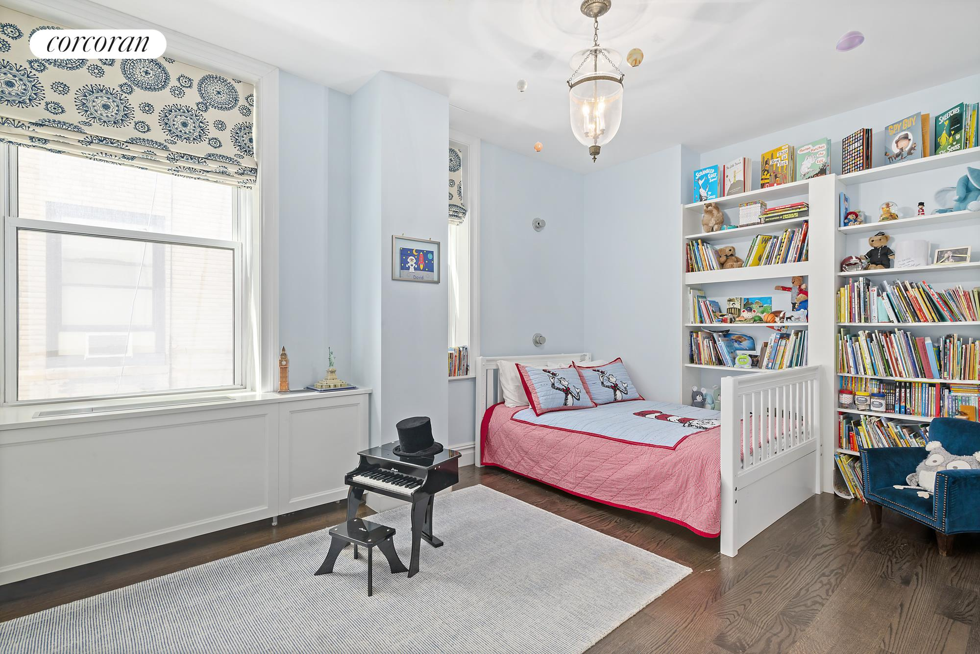50 West 67th Street, 2G/3GH, Living Room with WBFP