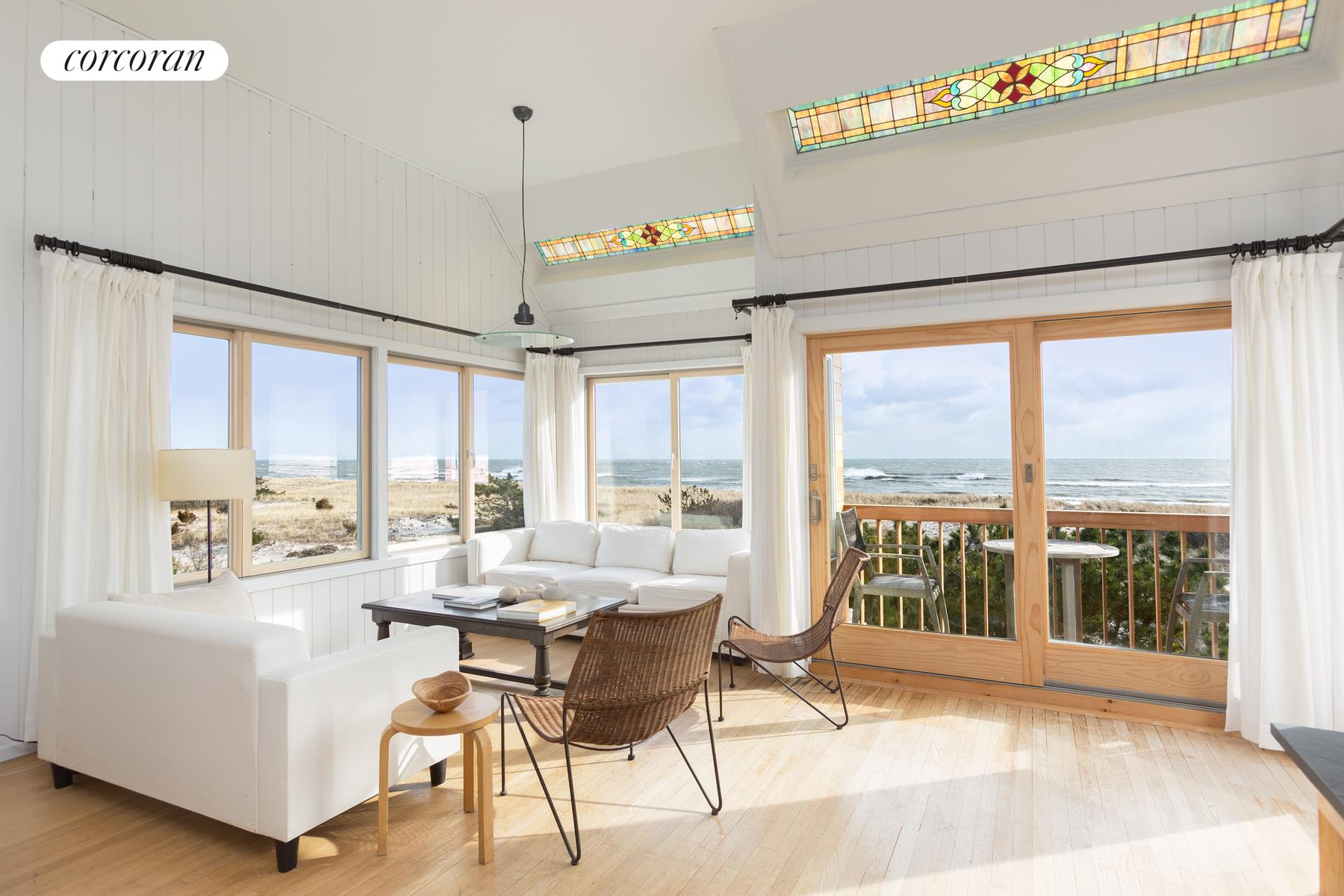 449 Dune Rd, Great room with ocean views