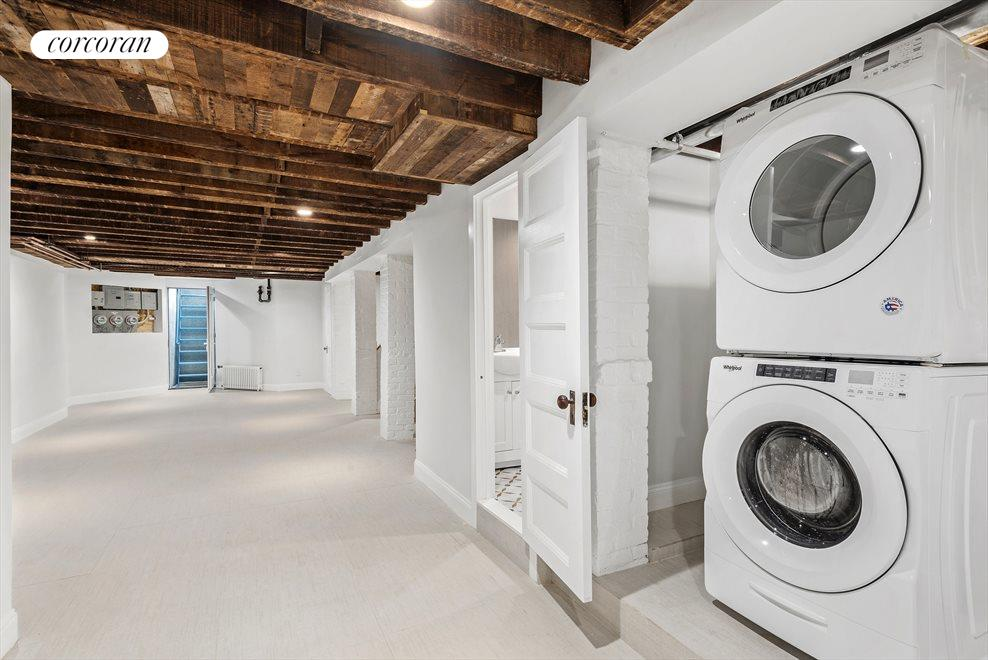 Rec Room with Laundry and a Half Bathroom