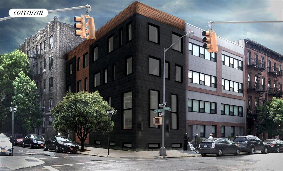 North and west facades - rendering