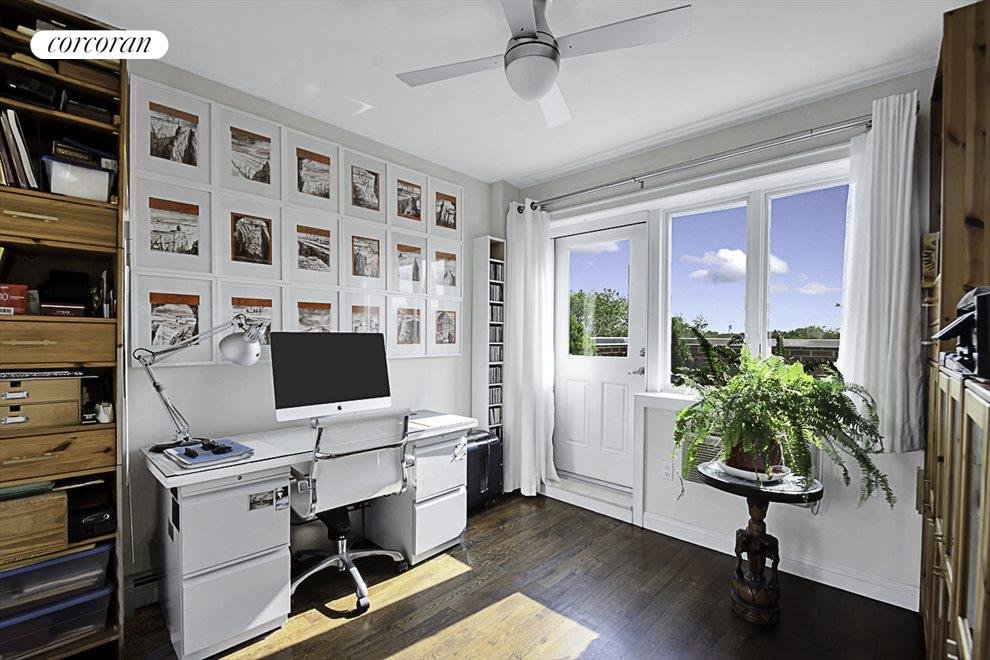Home office or guest room with terrace access