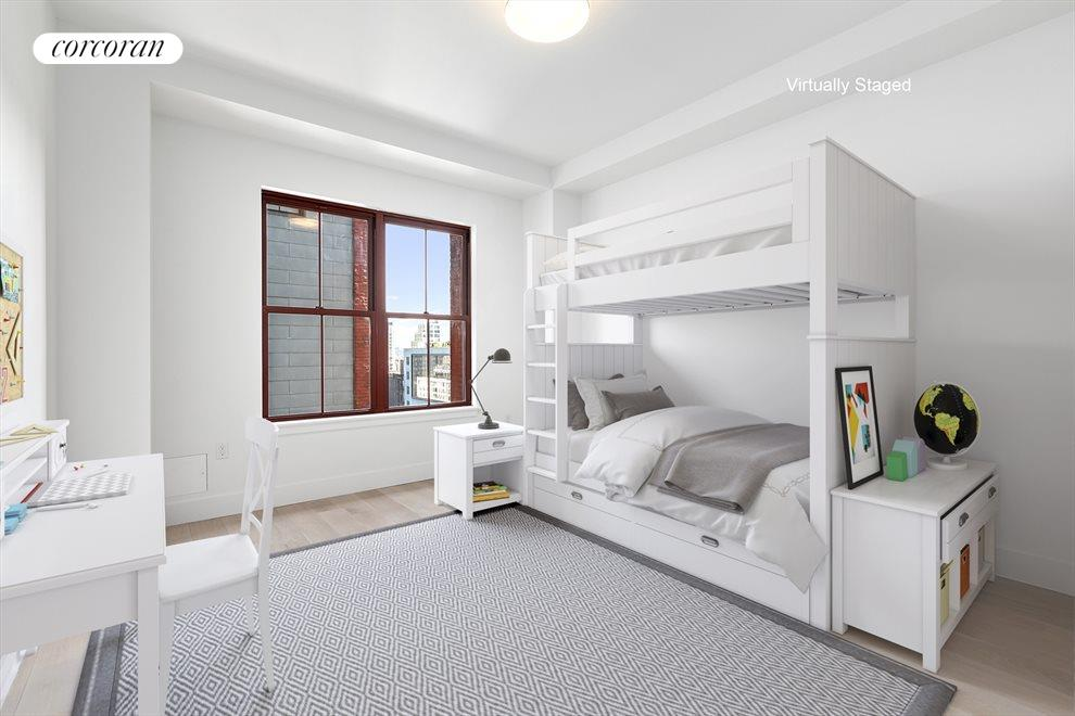 Bedroom with sunny exposure.