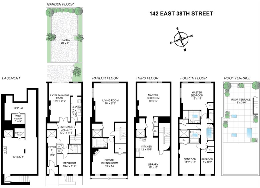 New York City Real Estate | View 142 East 38th Street | Floorplan