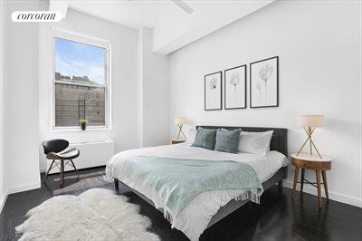 New York City Real Estate | View 96 Schermerhorn Street, #8D | Over-sized window in master bed