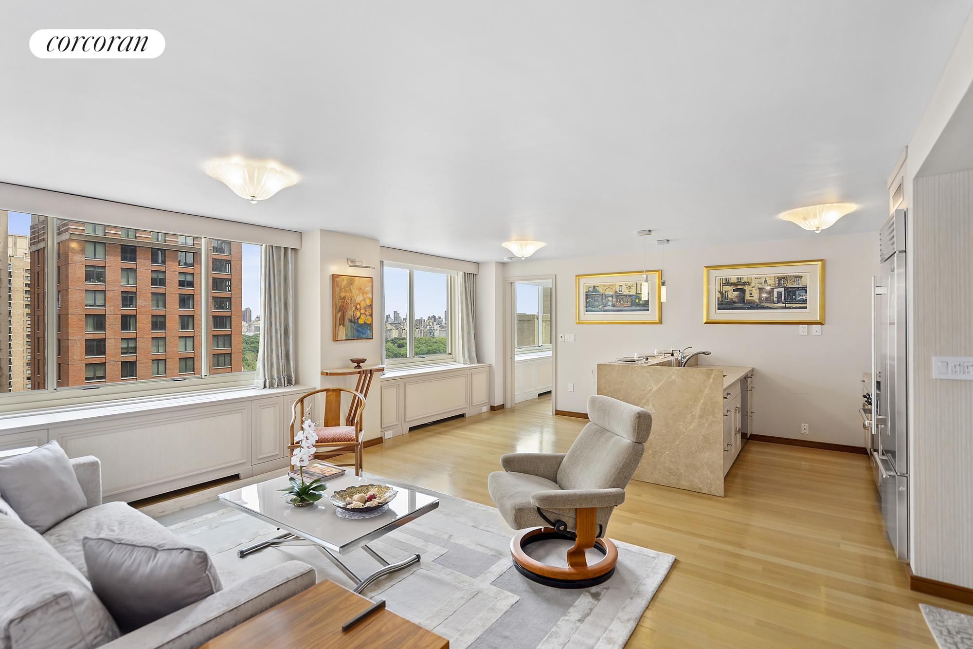 30 West 63rd Street, 25AB, Living Room