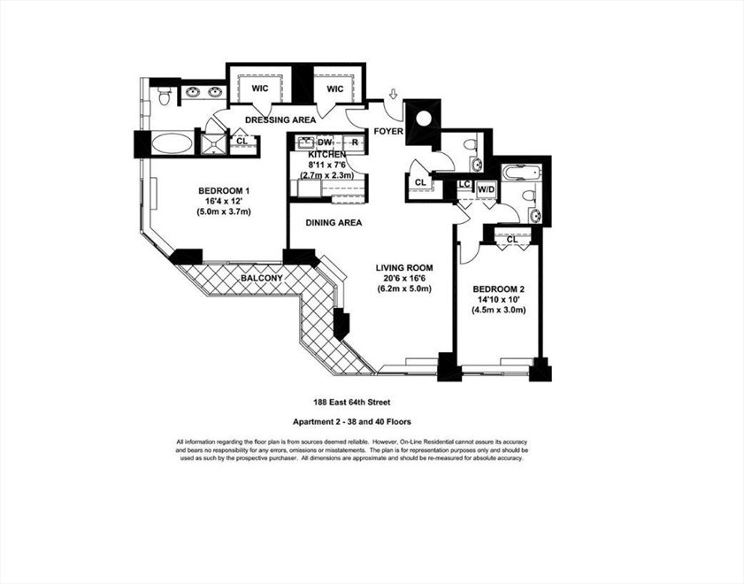 New York City Real Estate | View East 64th Street | Floorplan 2
