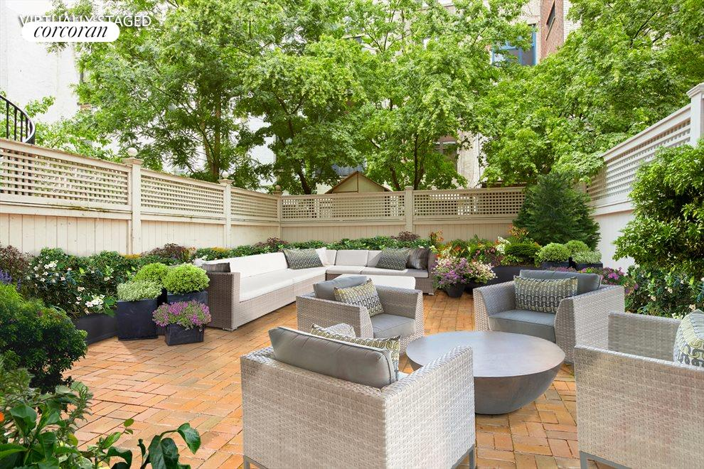 Virtually Staged Private Garden