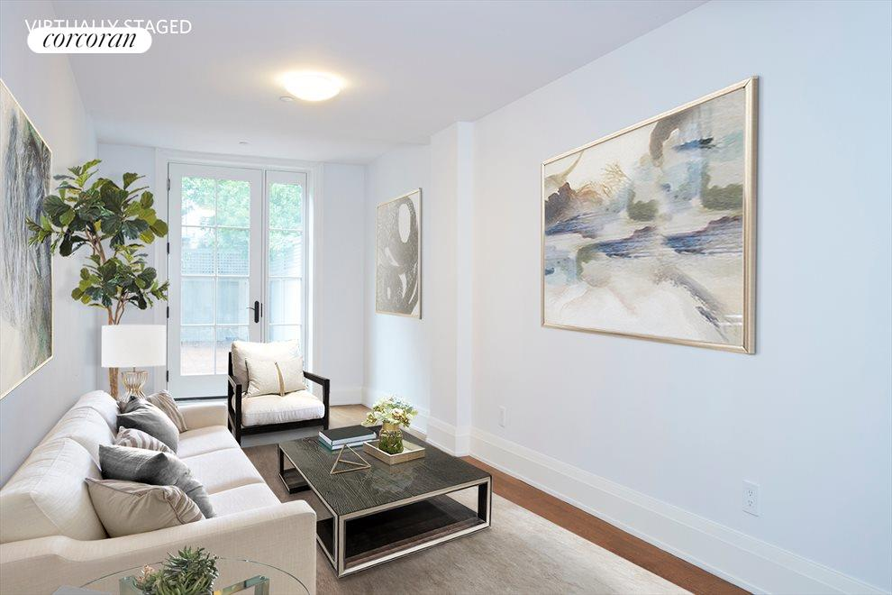 New York City Real Estate | View 17 West 87th Street, #2 | Virtually Staged Living Room