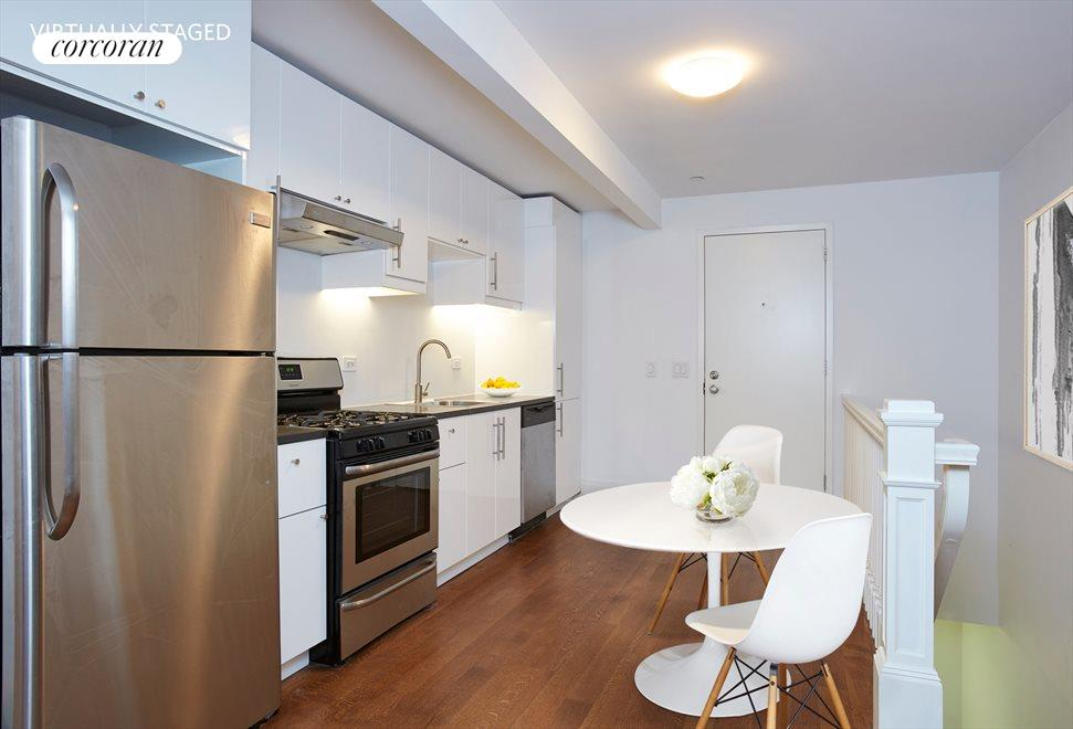 New York City Real Estate | View 17 West 87th Street, #2 | Virtually Staged Kitchen