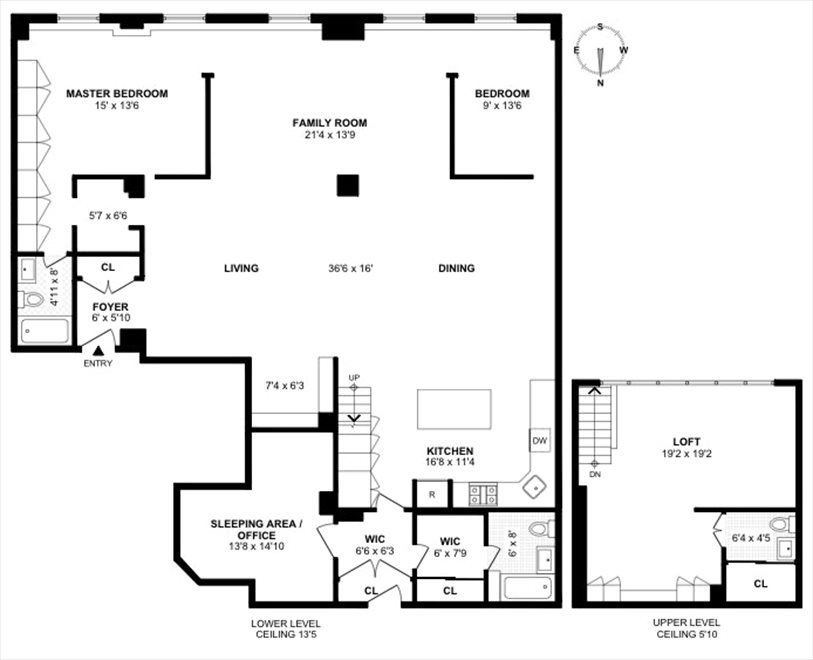 New York City Real Estate | View West 42nd Street | Floorplan