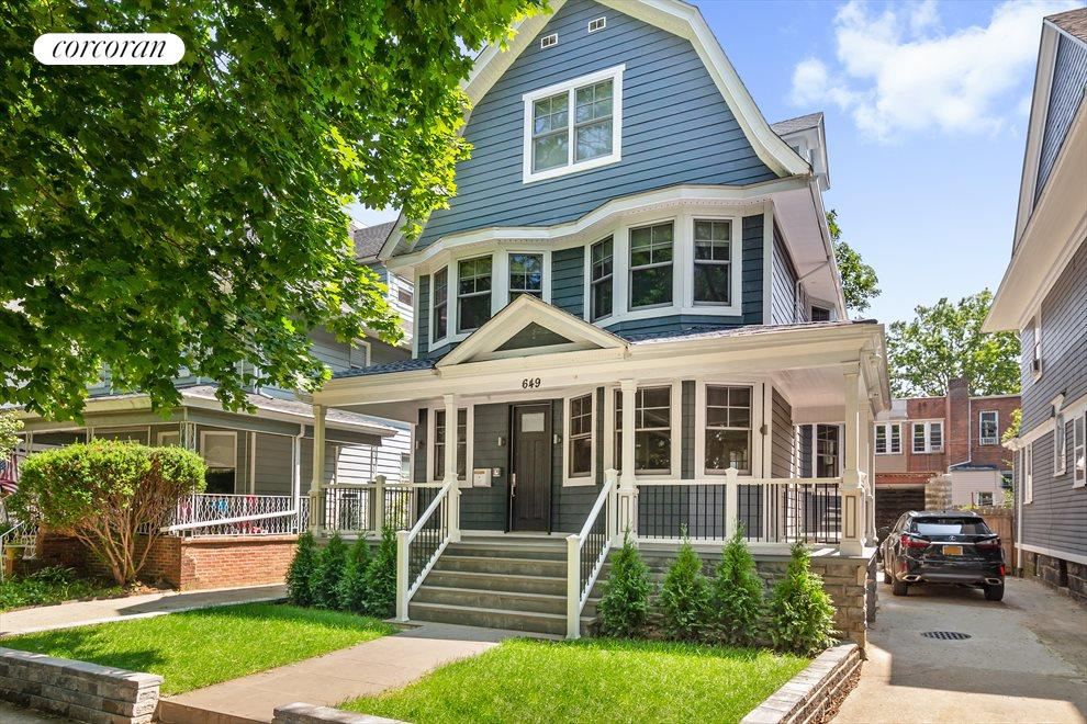 New modern dutch colonial with ample front porch