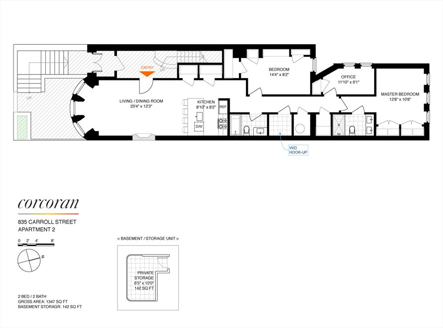 New York City Real Estate | View 835 Carroll Street, #2 | Floorplan