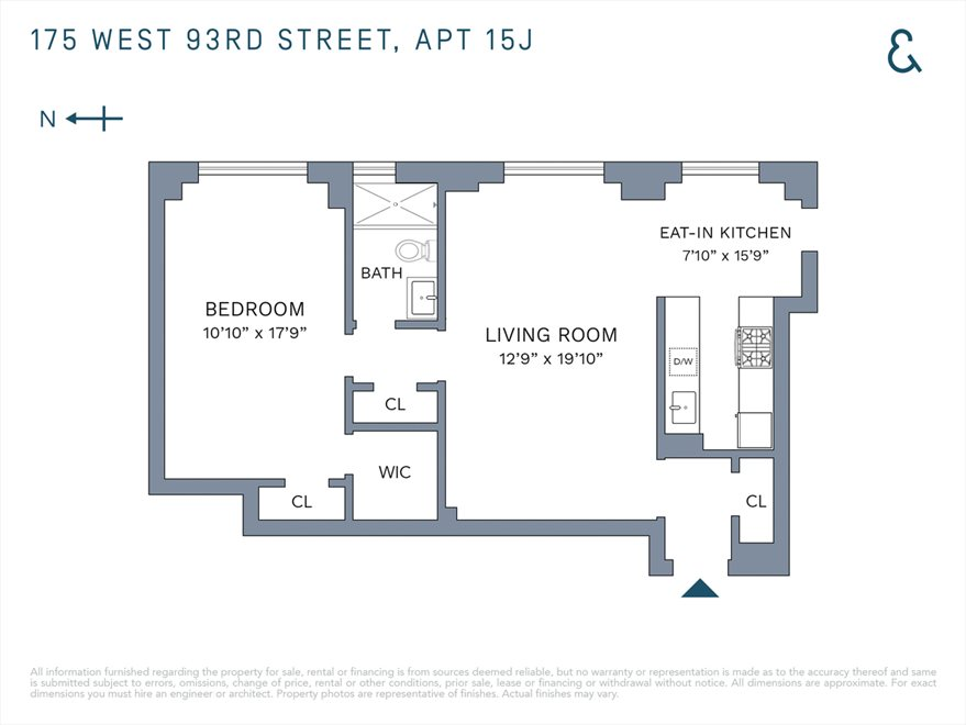 New York City Real Estate | View West 93rd Street | Floorplan 2