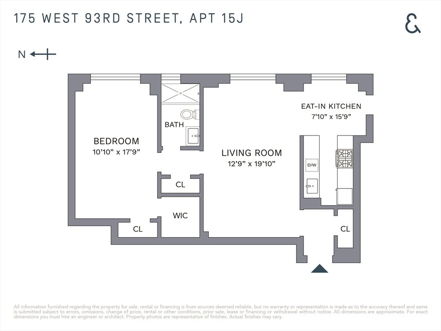 New York City Real Estate | View West 93rd Street | Floorplan 1