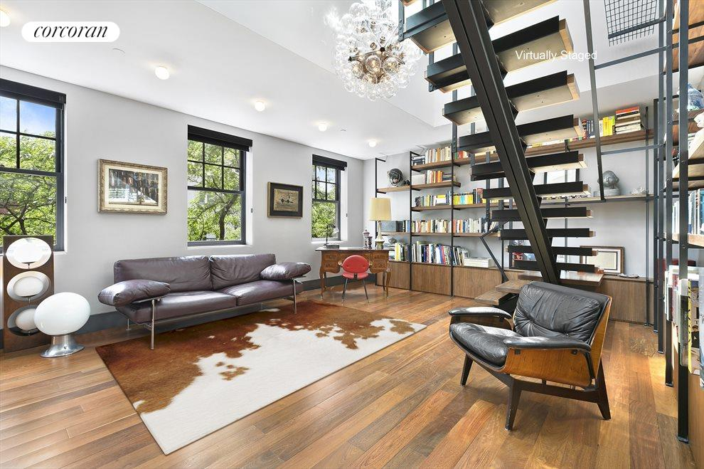 Dramatic Double-Height Living Room