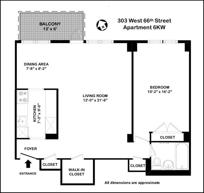 New York City Real Estate | View West 66th Street | Floorplan