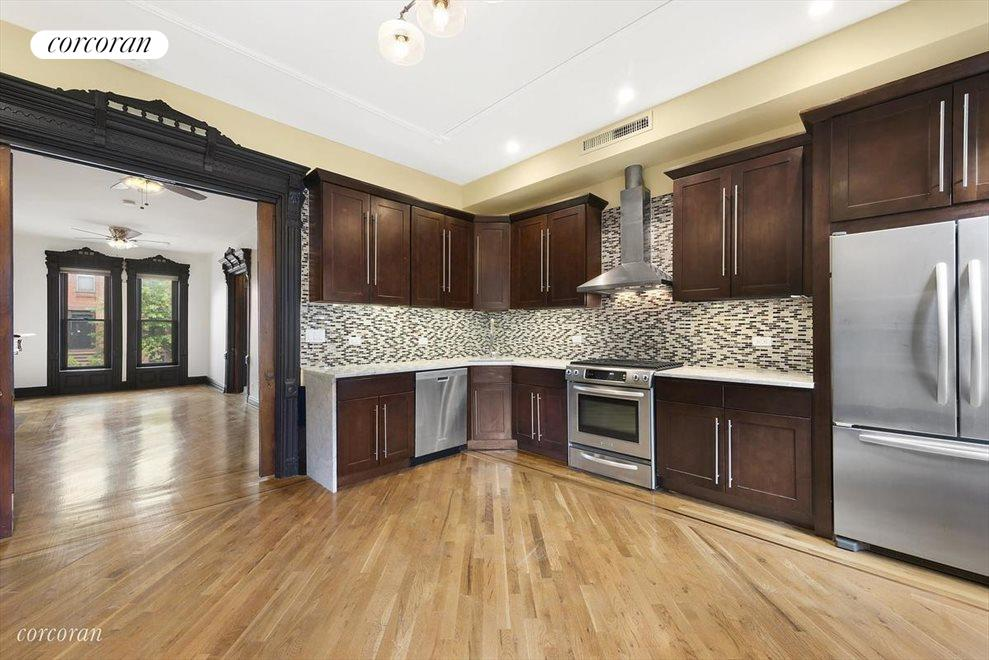 Top-of-the-line appliances and marble counters!