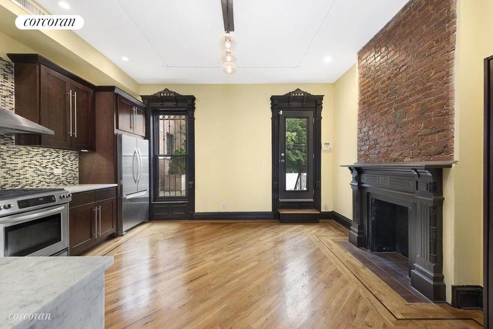 Large eat-in kitchen with private terrace access!
