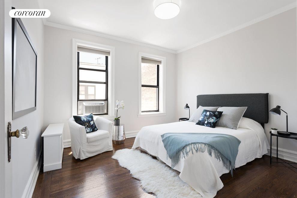 Roomy bedrooms