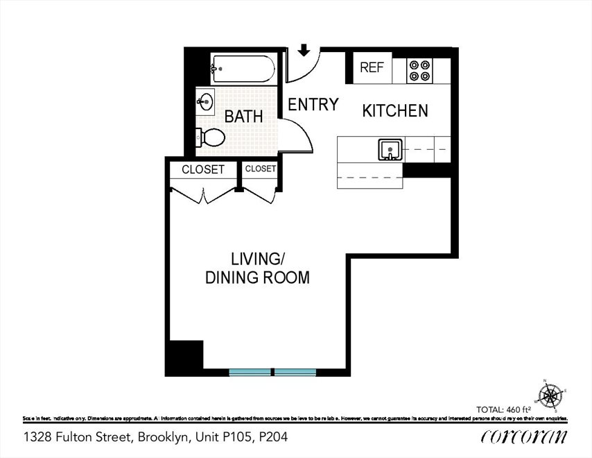 New York City Real Estate | View 1328 Fulton Street, #P105 | Floorplan
