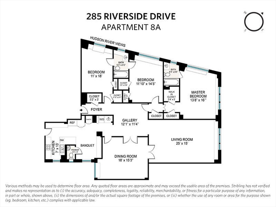 New York City Real Estate | View Riverside Drive | Floorplan 1
