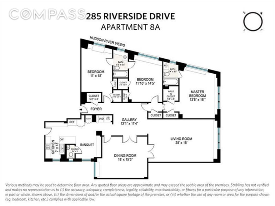 New York City Real Estate | View Riverside Drive | Floorplan 2