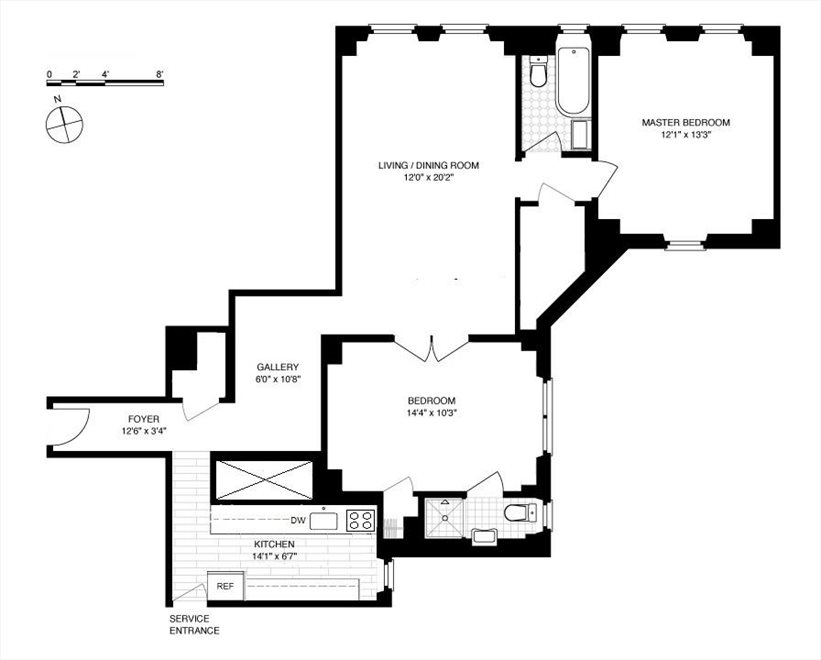 New York City Real Estate | View East 86th Street | Floorplan 1