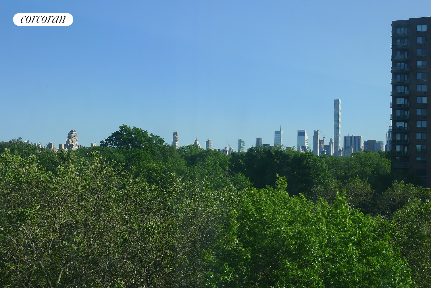 400 Central Park West, 8Y, Treetop view of Central Park and Skyline