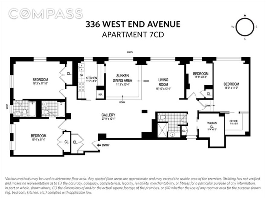 New York City Real Estate | View West End Avenue #7CD | Floorplan